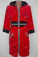 Велюровый халат на замке M, L, XL, XXL