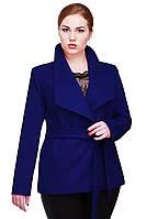 Женское короткое кашемировое пальто Эльвира на запах 42-54 рр