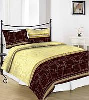Комплект постельного белья сатин односпальный квадраты