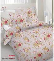 Комплект постельного белья сатин односпальный красные цветы