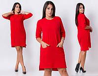 Стильное асиметричное платье-туника 50-60 размера
