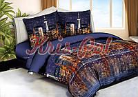 """Комплект постельного белья Евро двуспальный, п/э 3D """"Огни ночного города"""""""