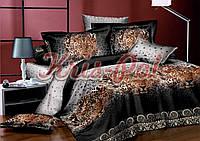 """Комплект постельного белья Евро двуспальный, п/э 3D """"Леопардовые ночи"""""""