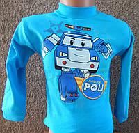 """Детская водолазка """"Робокар"""", для мальчиков , рост от 74 до 128 см"""