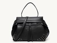 Черная сумка из эко -кожи без плечевого ремня, уценка