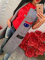 Женская модная вязанная жилетка/вязанный жилет-кардиган (2 цвета)