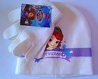 Головные уборы  Зима Sofia+перчатки Обх. гол.52 Белая 4298 CottonLand Польша