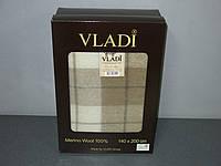 Шерстяной Плед  Vladi Марсель 02 в подарочной коробке (140х200)