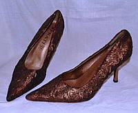 Туфли текстильные на выпускной или свадьбу и т.д. Р 36