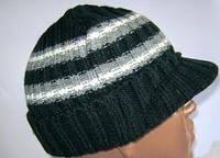 Теплая шапка ( шапочка) с козырьком ( кепка)  на 5 - 10 лет.
