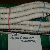 Спираль для электроплиты (печки, камина, духовки) в керамике (произв-ль Украина), 2 кВт.