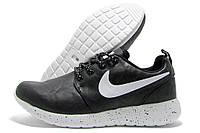 Кроссовки женские Nike Runer черные с белой подошвой (найк)