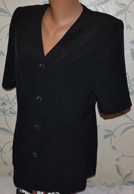 Шикарный пиджак с коротким рукавом, размер  46