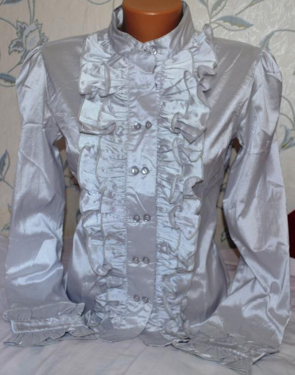 Блуза - рубашка, размер: М. можно в школу.
