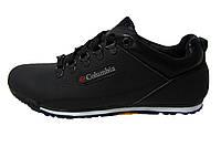 Мужские повседневные кроссовки Columbia, кожаные, черные, Р. 40 41 42 43 44 45