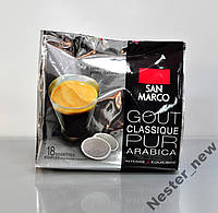 Італйська кава San Marco classique в чалдах