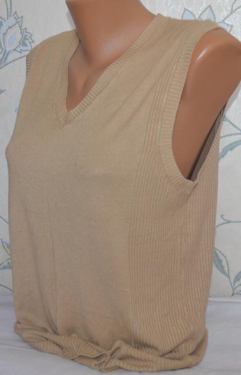 Женская жилетка, безрукавка, размер XL.