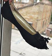Туфли - балетки, эко - нубук, размер 39 ( 38 )