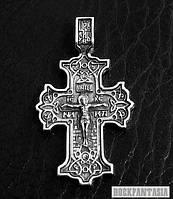 Серебряный крестик православный Распятие Христово