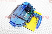 Машинка для чистки и мойки велосипедной цепи с ручкой, синяя SBT-791