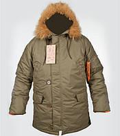 Куртка зимняя N-3B олива,