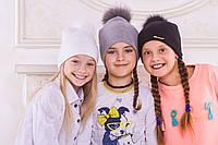 Модная теплая шапочка для девочки