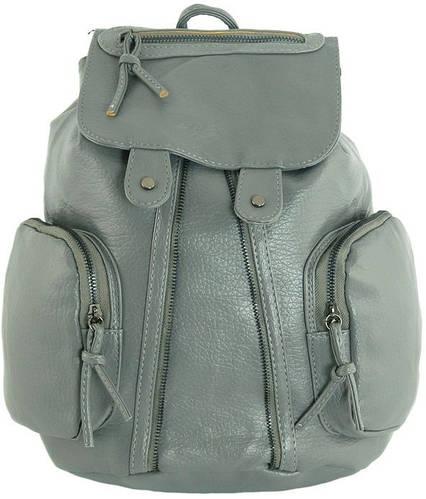Замечательный рюкзак из искусственной кожи 12 л. Traum 7229-07, серый
