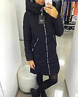 Пальто зимнее черное, наполнитель холофайбер