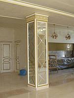 Зеркальное панно 450х2700 серебро фацет 15мм (плитка 318 мм)