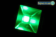Светодиодный прожектор зелёный(10 Вт)
