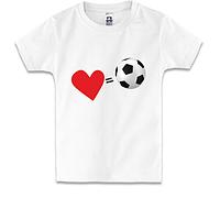 Детская футболка Люблю футбол (2)