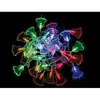 Электрогирлянда светодиодная Колокольчик 30 ламп многоцветная 800721