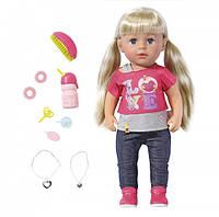 Кукла Zapf Baby Born Старшая Сестренка 43 см с чипом и аксессуарами 820704