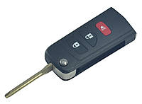Заготовка Nissan выкидной ключ 3 кнопки (корпус)