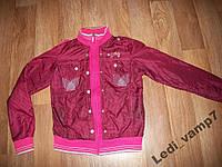 Куртка ветровка на девочку подростка 13-15 лет