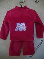 Пижама детская теплая махровая девочкам на 4 года