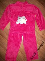 Пижама детская теплая махровая девочкам на 5 лет