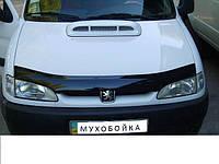 Дефлектор капота мухобойка Peugeot Partner 96-02