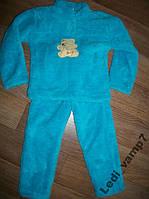 Пижама детская теплая махровая мальчикам на 5 лет
