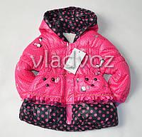 Детская демисезонная куртка для девочки розовая 2-3 года 98р-104р