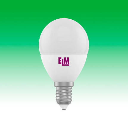 Светодиодная лампа LED 6W 4000K E14 ELM D45 (18-0032), фото 2