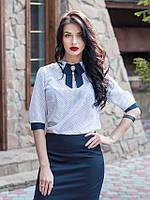 Женская нарядная блуза Эмилия белая