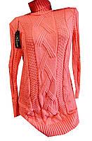 Платье-свитер женское с горлом батал, фото 1