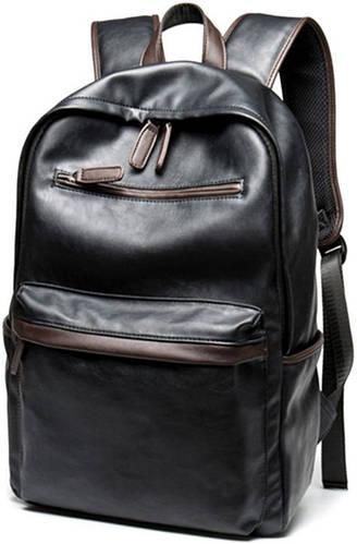 Удобный рюкзак из искусственной кожи 17 л. Traum 7175-05, черный