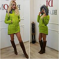 Женская модная зимняя куртка-парка (+большие размеры) (8 цветов)