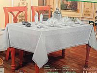 Скатерть на большой стол с салфетками Турция