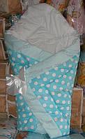 Теплый конверт одеяло на выписку новорожденного