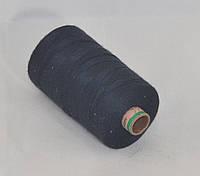 Нитка армированная джинсовая № 80, цв.черный, 1000 м, 0822