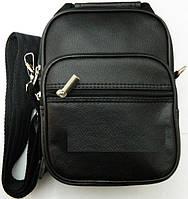 Недорогая компактная мужская сумка через плече. Кожаная спортивная барсетка. Сумка для денег. Код: КБН63