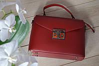 Красная кожаная сумка Virginia Conti